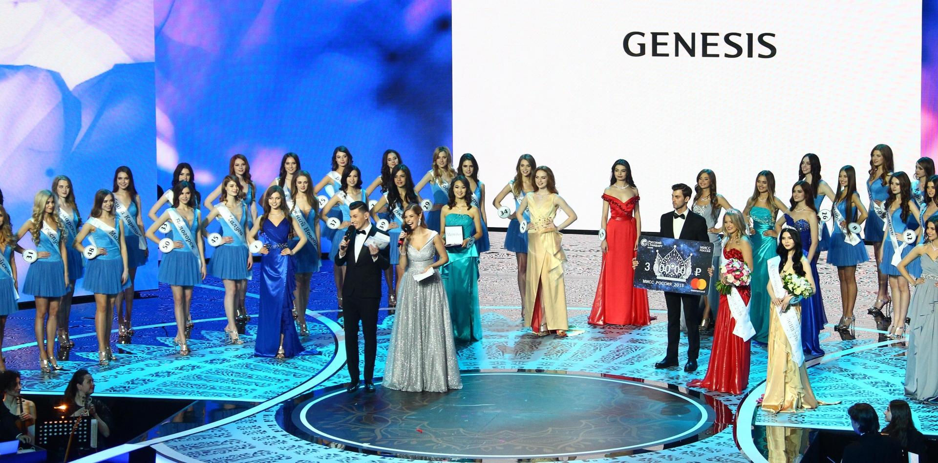 Фото genesis во второй раз выступил официальным партнером конкурса «мисс россия»
